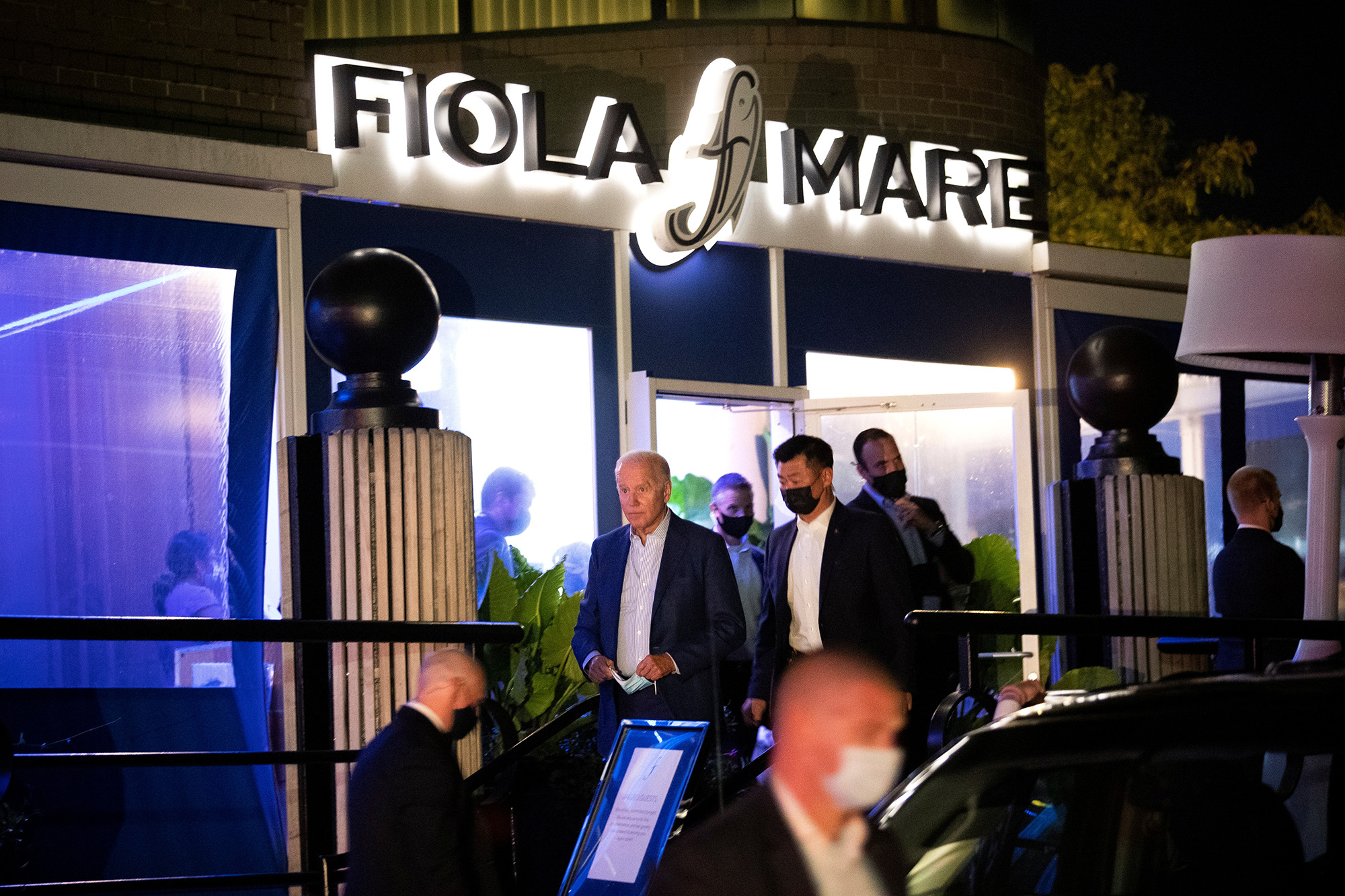 President Joe Biden and first lady Jill Biden went to Fiola Mare on October 16, 2021 for a date night.