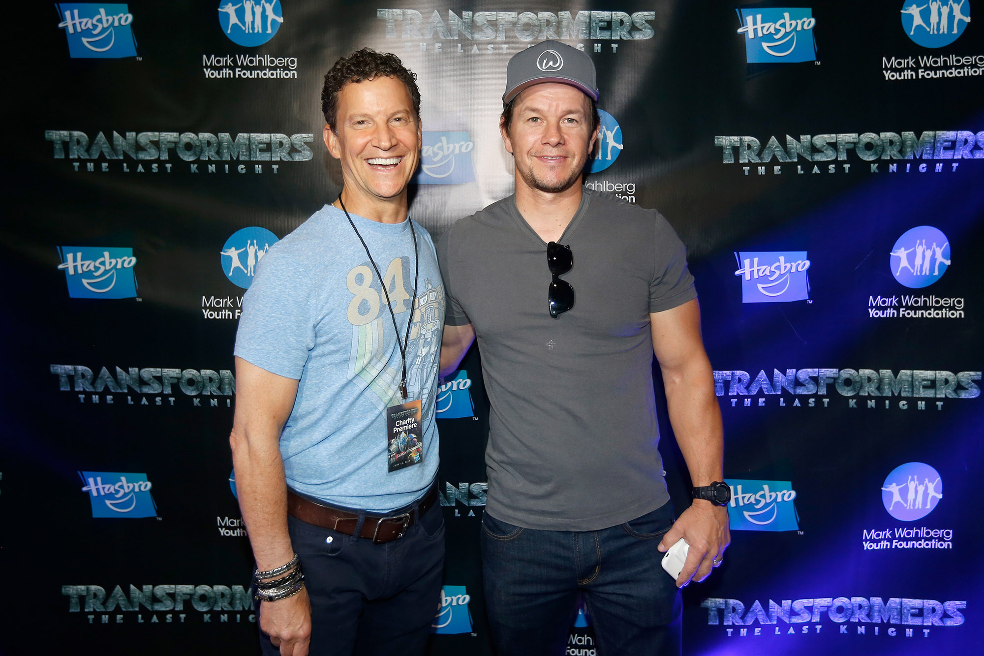 Brian Goldner with actor Mark Wahlberg