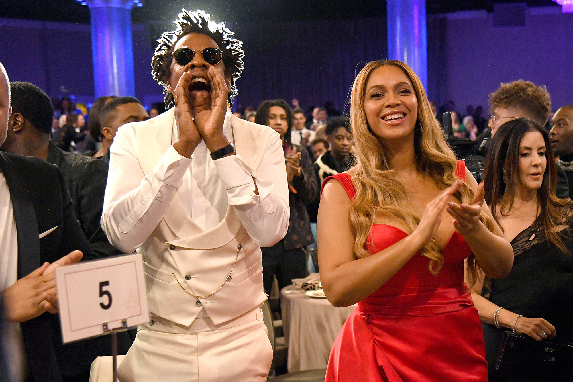 According to Jay-Z (left) he is still owed $2.7 million by Parlux in the deal.