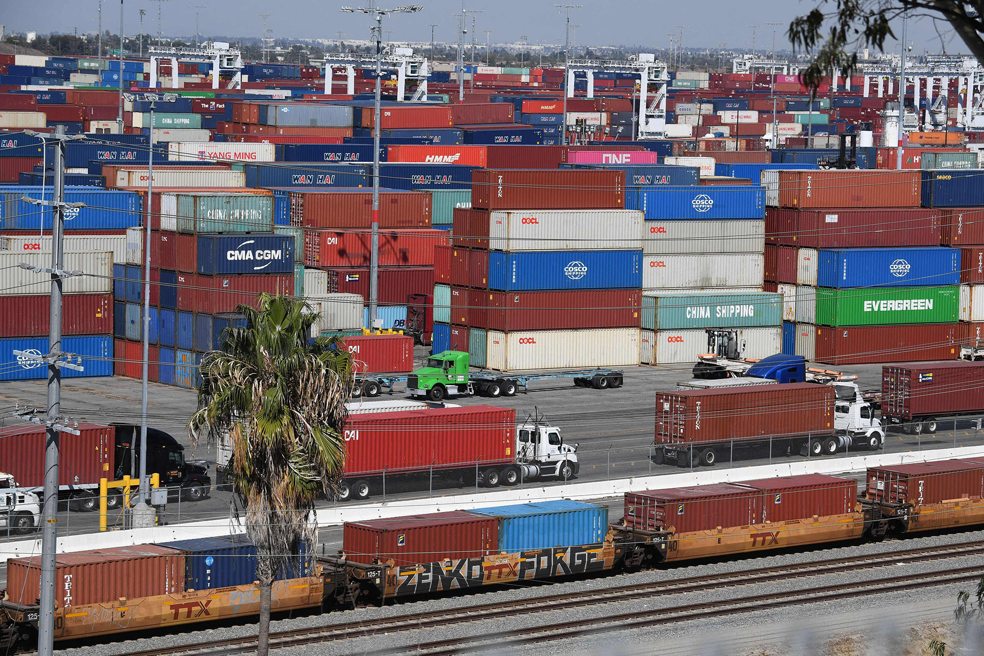 Shipping port of Los Angeles.